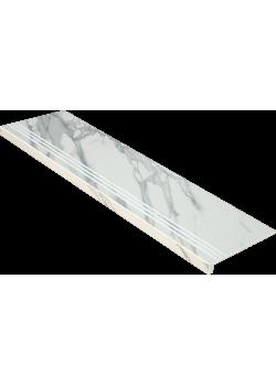 Ступень Idalgo Calacatta Pearl Lux 120x32 LLR