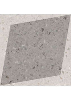 Керамогранит Wow NaturalDrops Rhombus Decor Grey 18.5x18.5