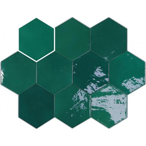 Плитка Wow Zellige Hexa Emerald 10.8x12.4